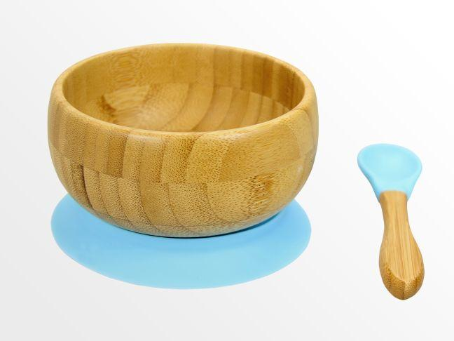Bamboo bowl with spoon