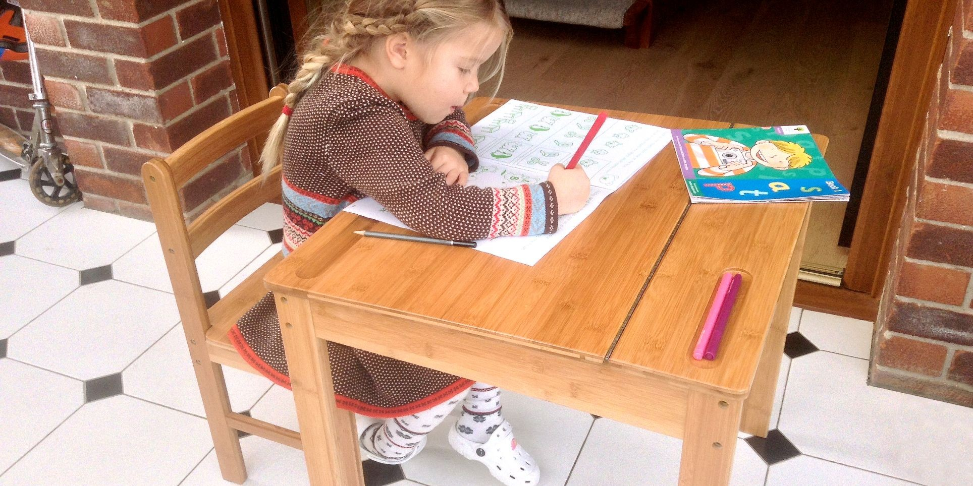 Childrens Desk and Chair | Bamboo Childrens Table