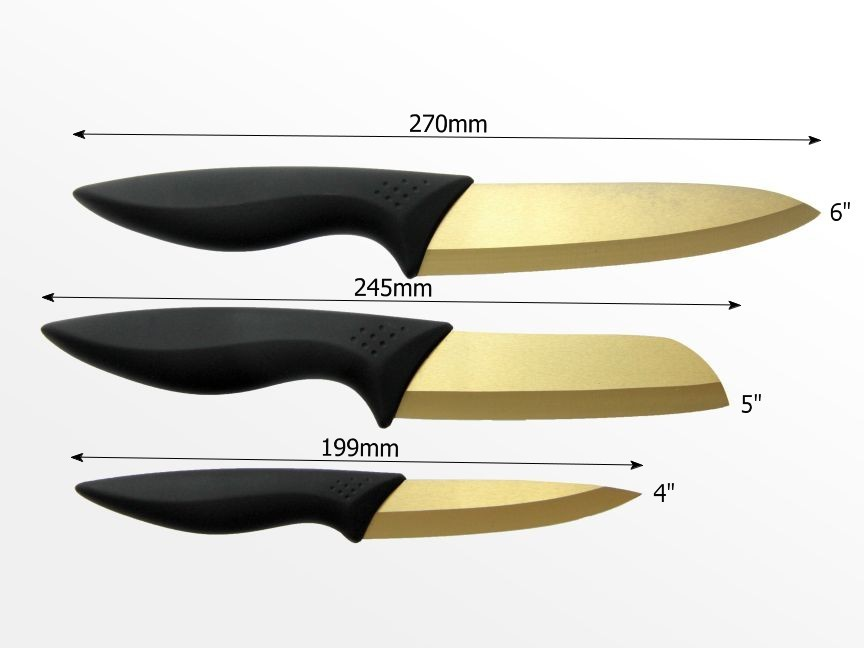 Dimensions of ceramic knife