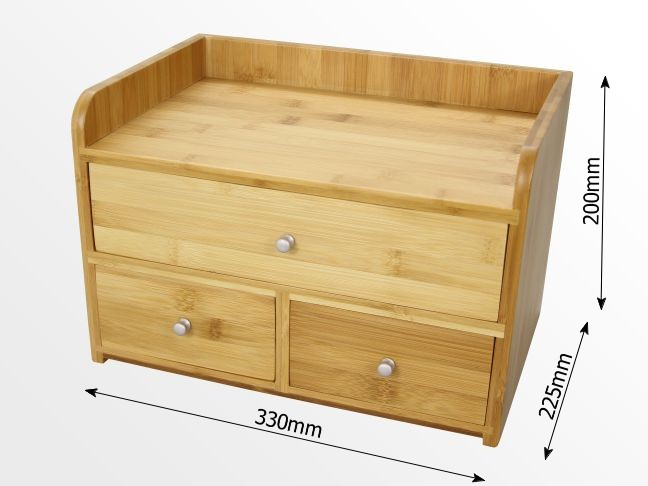 Dimensions of the desk organiser
