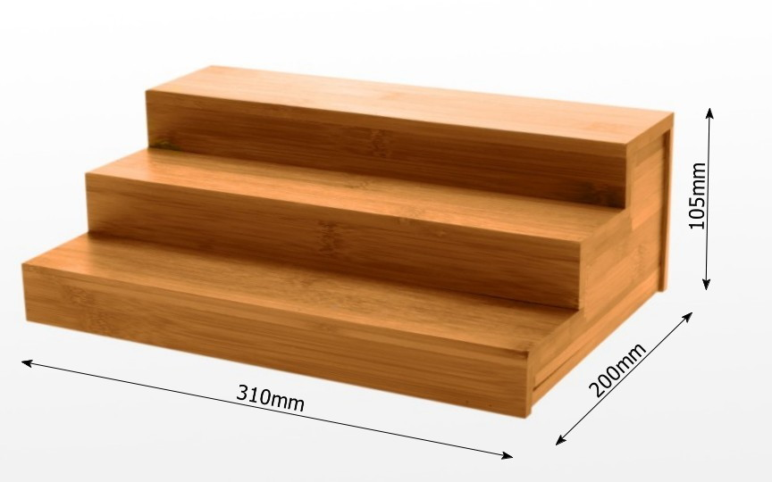 Dimensions of bamboo kitchen shelf