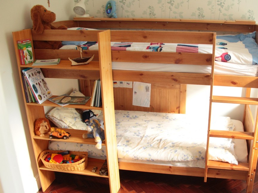 Clip On Bunk Bed Shelf Bamboo Furniture