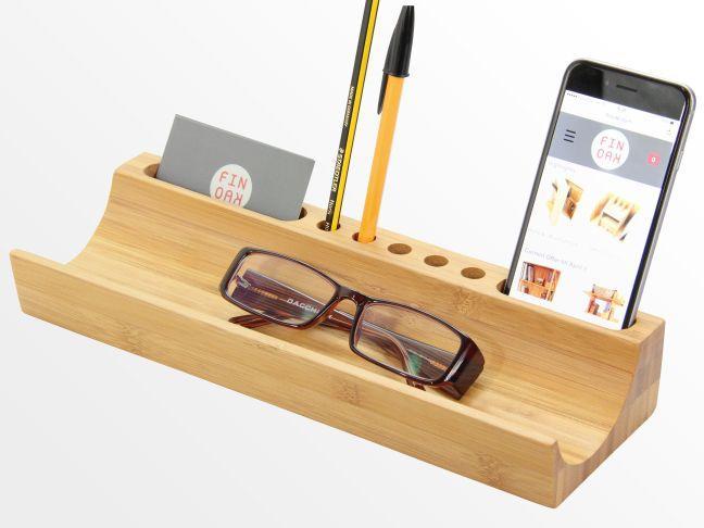 U Shaped Desk Organiser Bamboo Desk Tidy