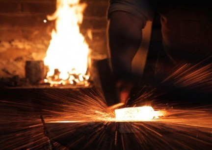 The production of Damascus Steel