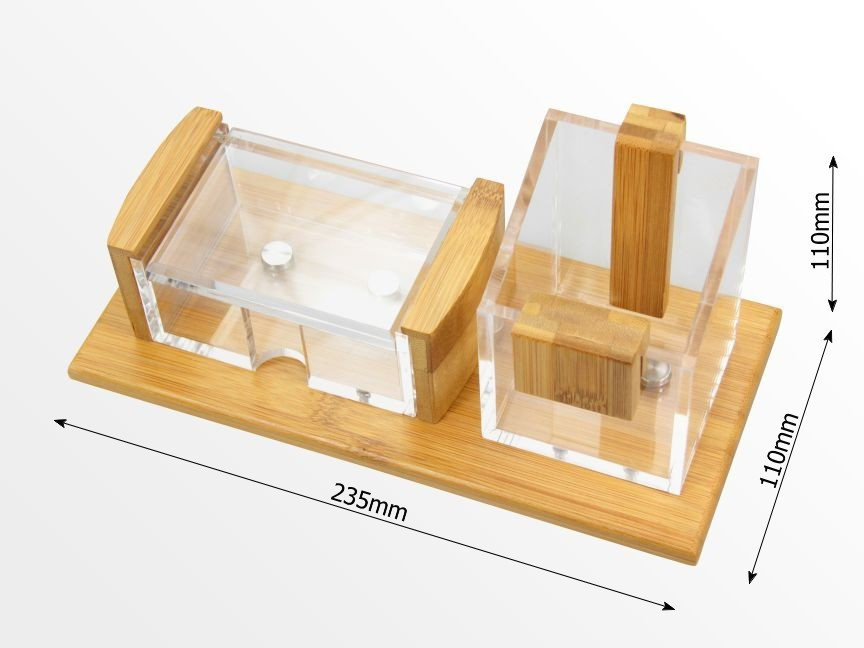 Dimensions of pen pot and card holder