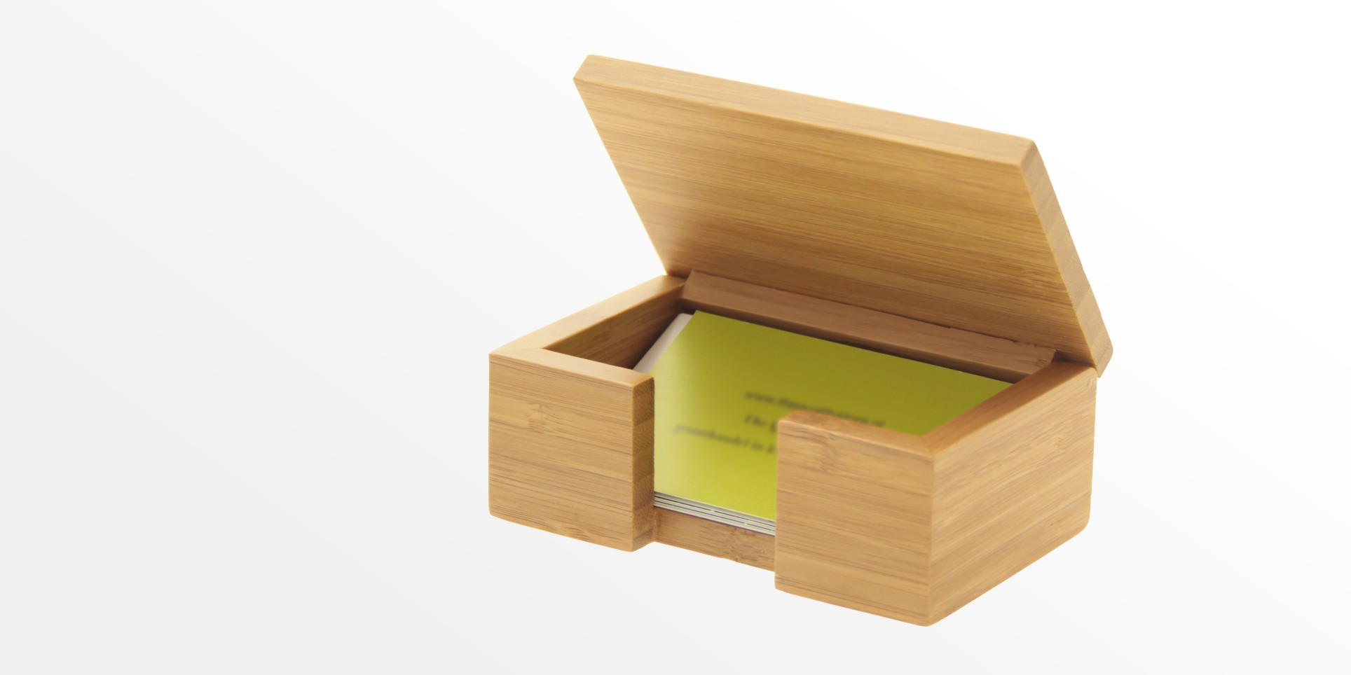 Bamboo card box business card holder office supplies for Bamboo business card holder