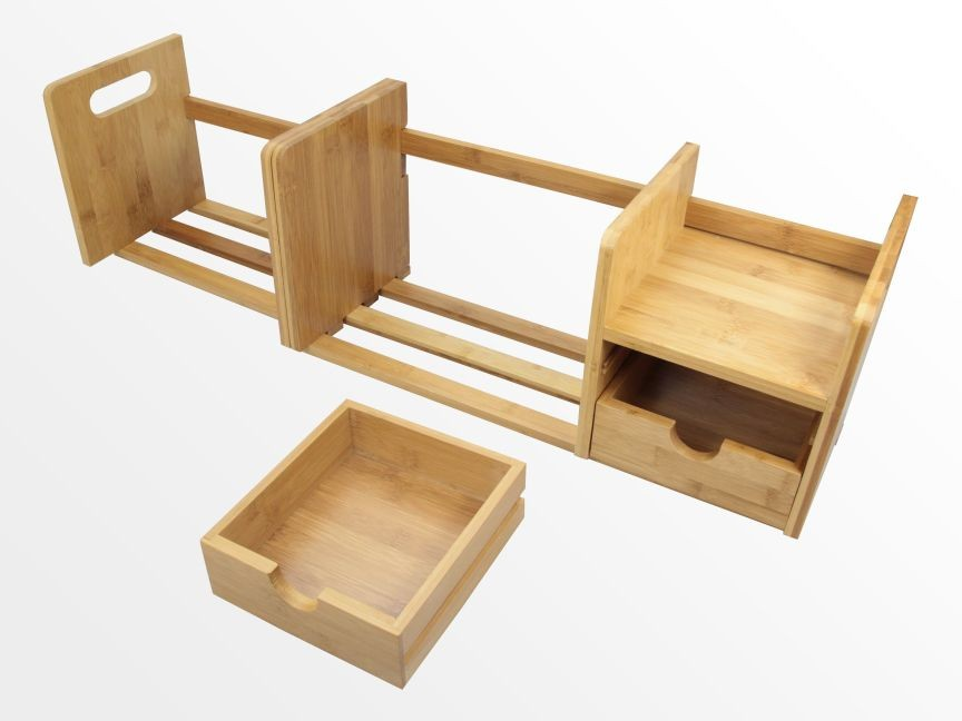 Expandable Bookshelf With Drawers