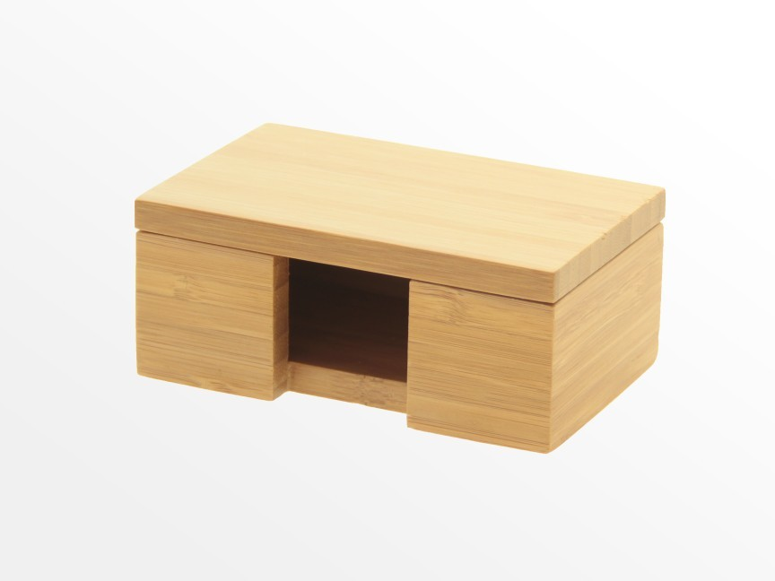 Bamboo Card Box, Business Card Holder | Office Supplies