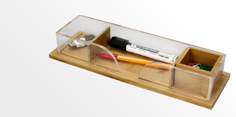 Desk Organiser Bamboo Acrylic