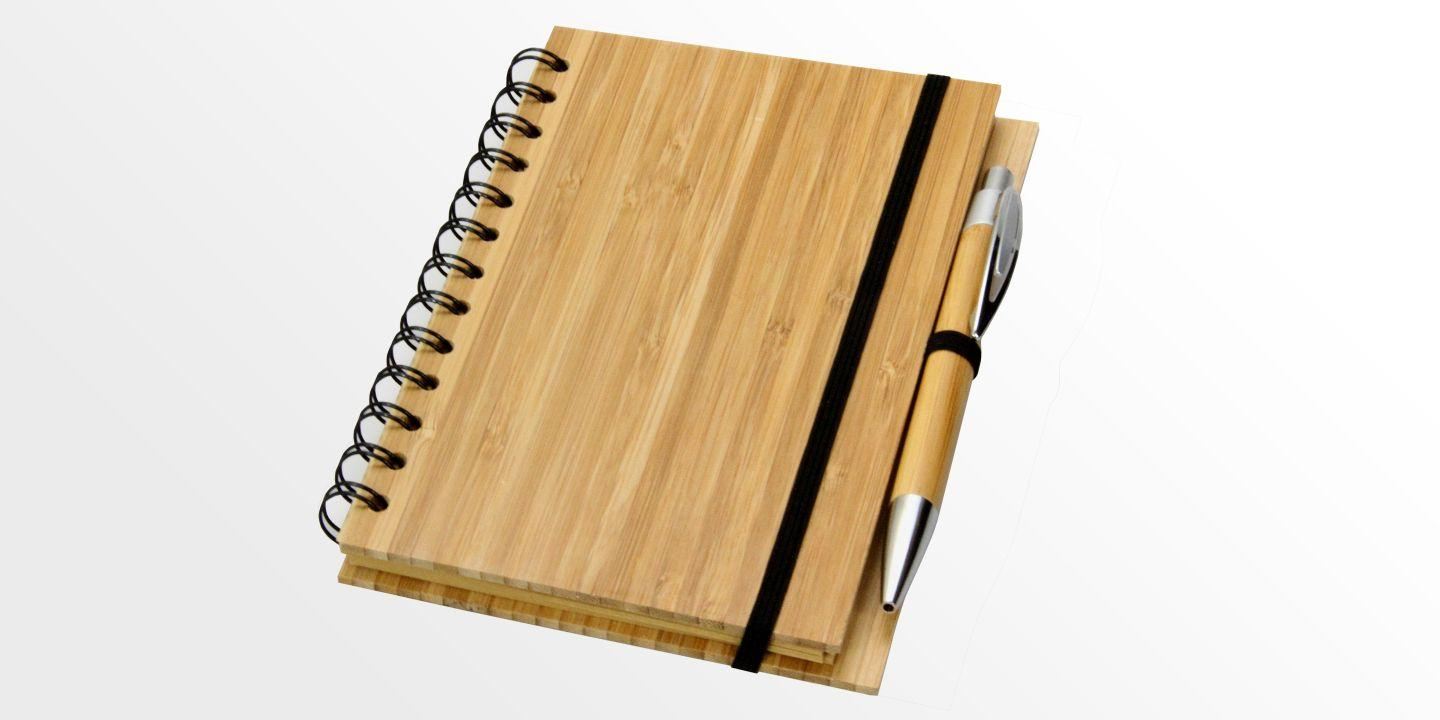 Bamboo Notepad with Pen | Bamboo Diary Organiser