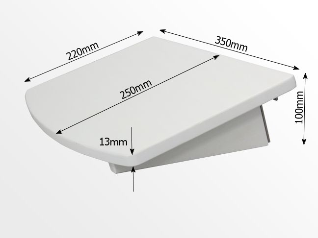 Dimensions of clip on shelf