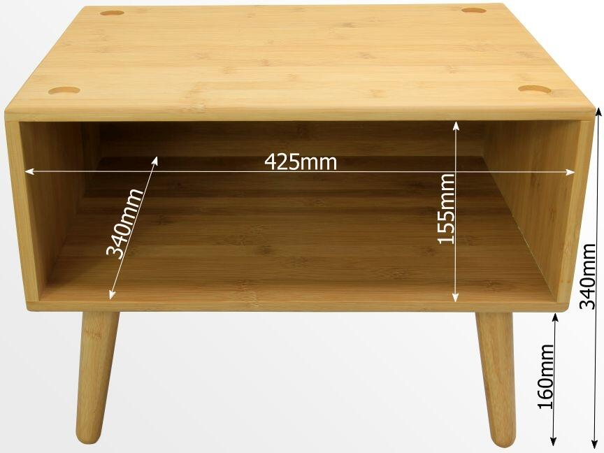 Dimensions of bamboo cabinets