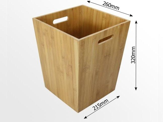 Dimensions of bamboo bathroom bin