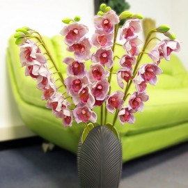 Artificial Cymbidium orchid (puttyroot) - Pink