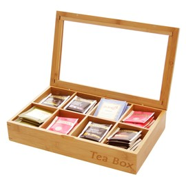 Tea Box Tea Caddy 8 compartments