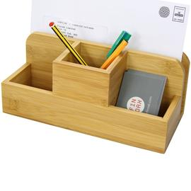 Bamboo Desk Organiser, Stationery Box