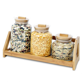 Glass Jars, 3 pcs