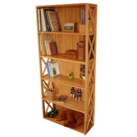 Stackable Bookcase, 5 Book Shelves