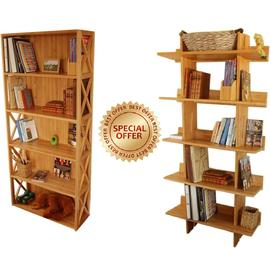 Shelving Units, Set of 2 Bookcases