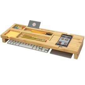 Bamboo Keyboard Top Desk Tidy