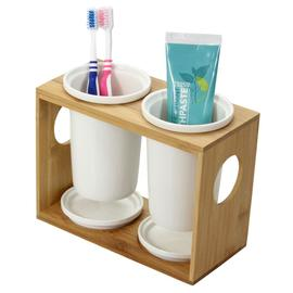 Toothbrush Holder  Double Ceramic Pots
