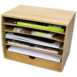 Cube Literature Sorter with Drawer