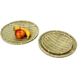 Set of 3 Woven Bamboo Fruit Plates