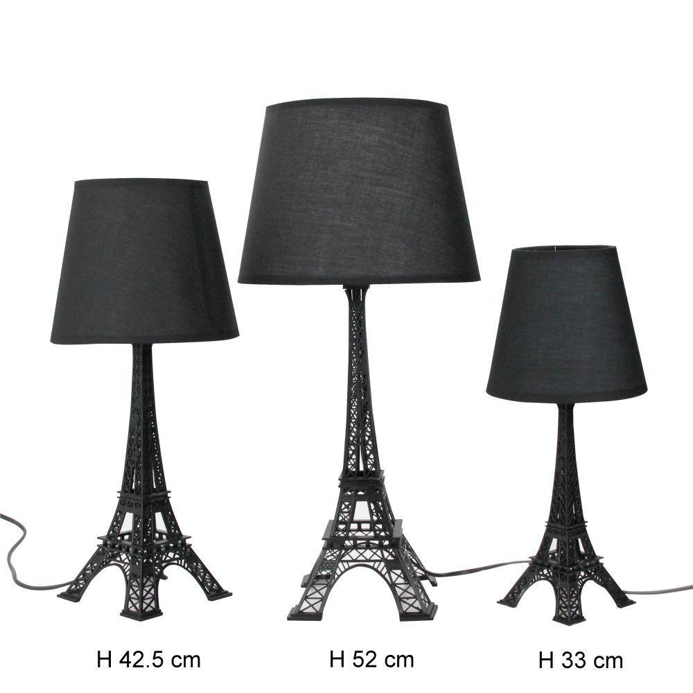 Tower table lamp black eiffel tower table lamp black aloadofball Images