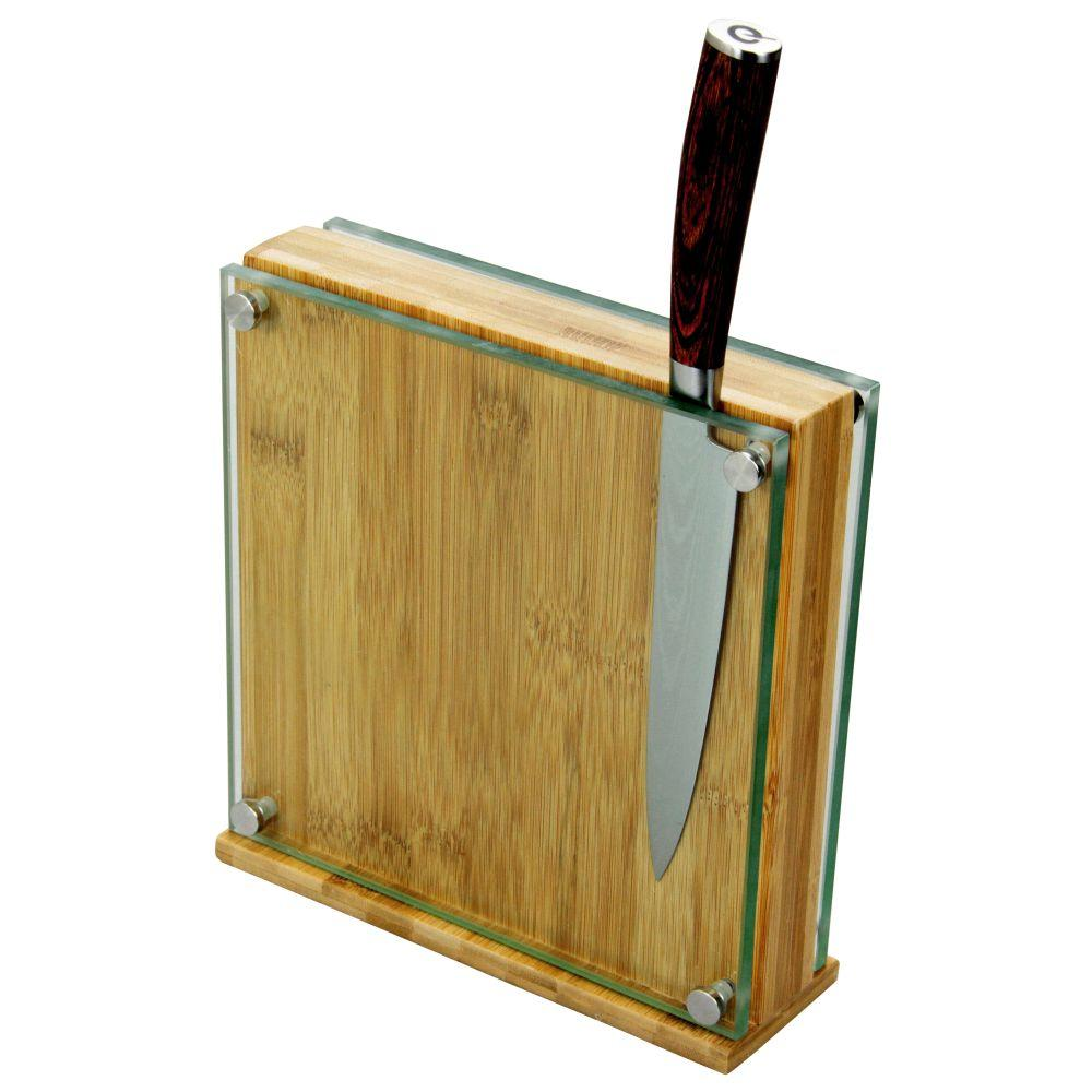 Glass Magnetic Knife Block
